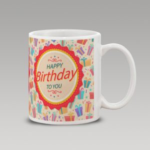 Red birthday mug