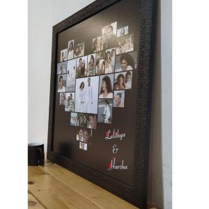Heart collage black frame 24inch x 24 inch