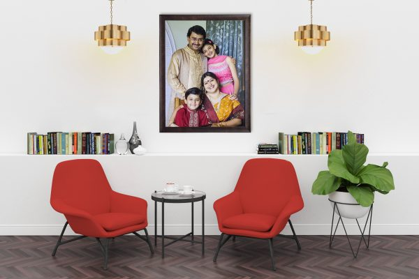 family portrait wall frame